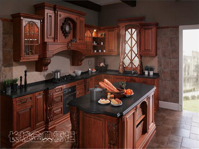 实木厨房整体橱柜
