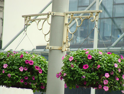 铁器灯杆花盆