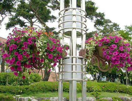 山东灯杆花盆