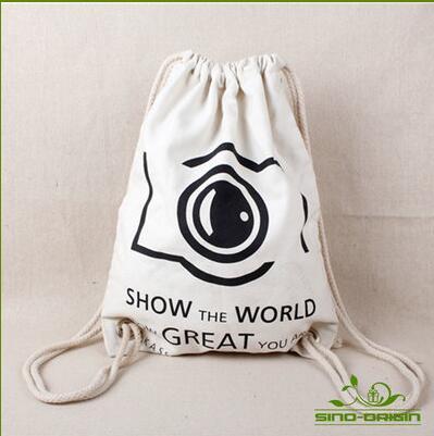 Canvas draw string bag