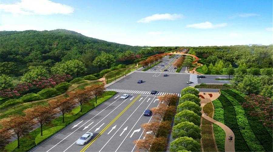 道路景观绿化设计