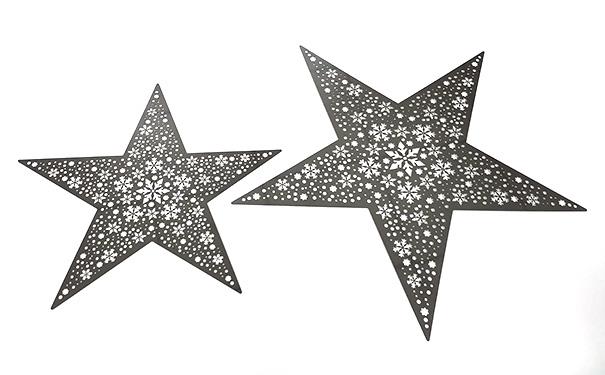 圣诞装饰品雪花星星