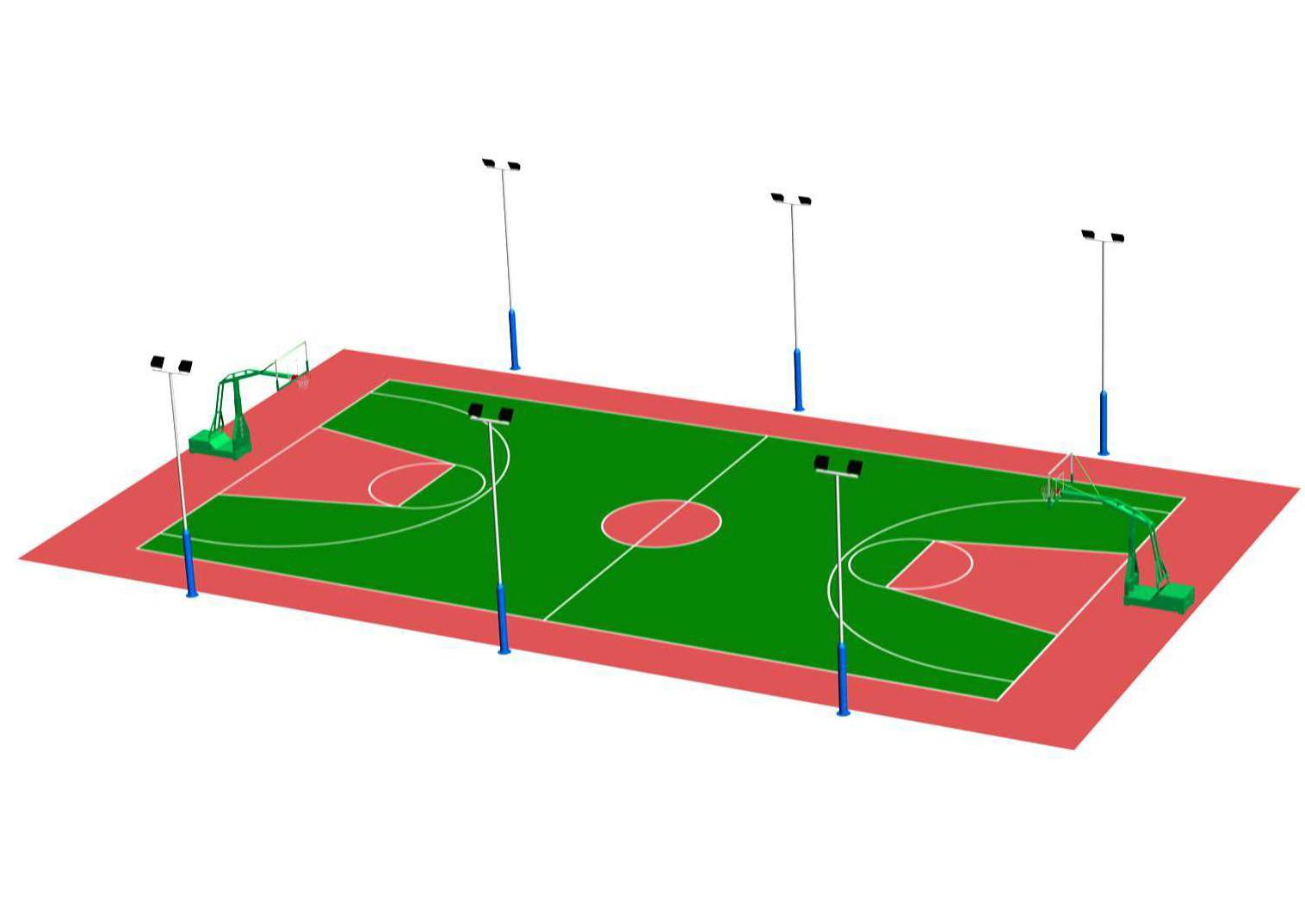 篮球场的建造标准