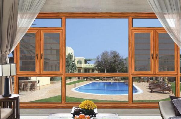 窗纱一体断桥平开窗加工