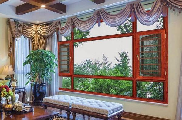 窗纱一体断桥平开窗安装
