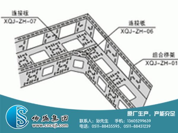 组合式桥架安装示意图
