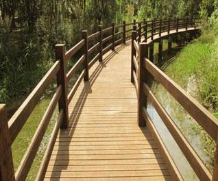 防腐木桥梁设计