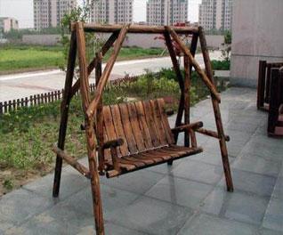 防腐木秋千吊椅