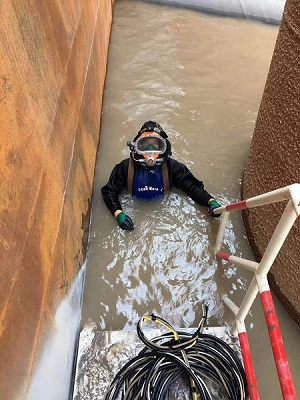 水下沉井堵漏