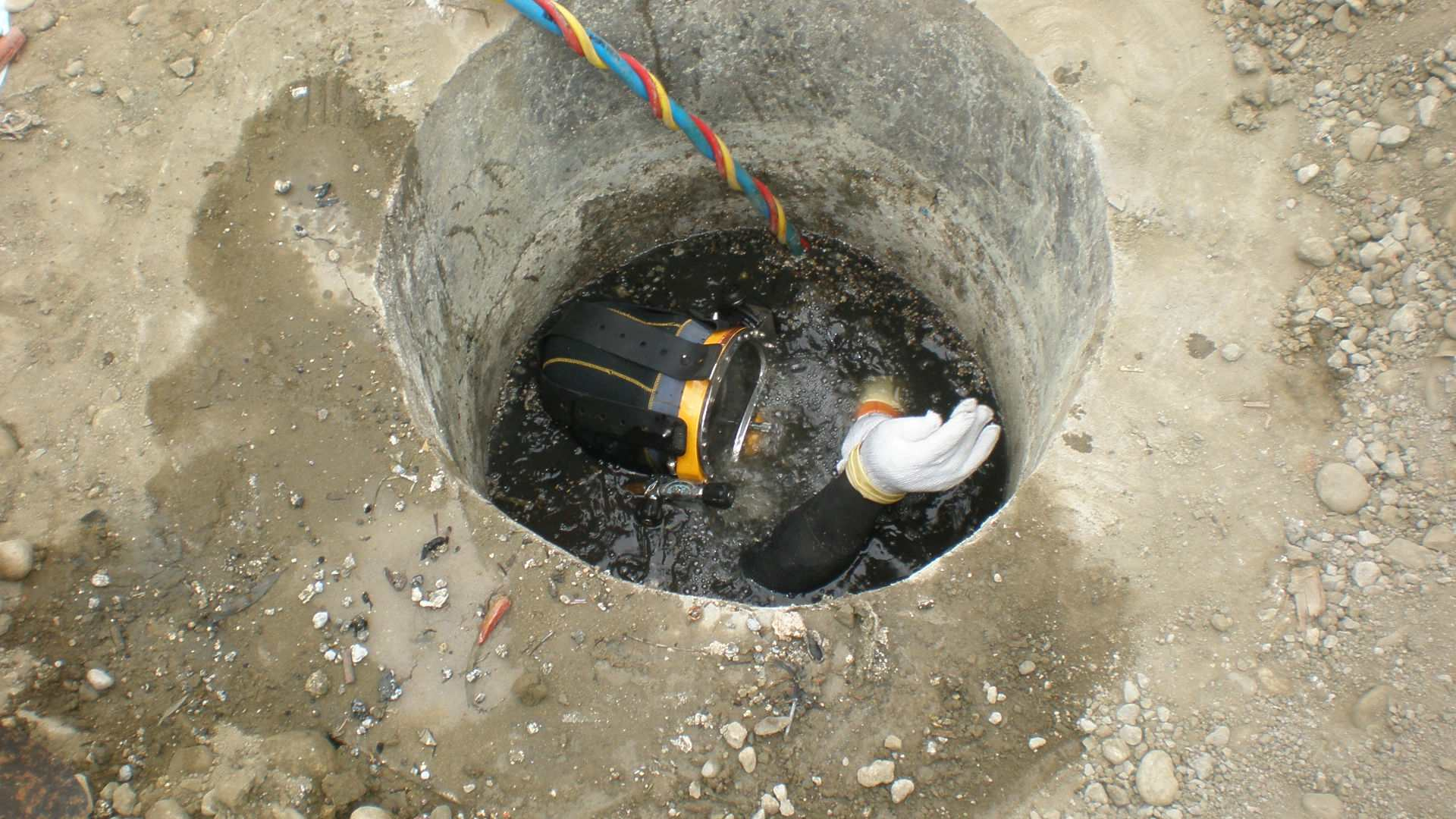 污水管道水下封堵施工