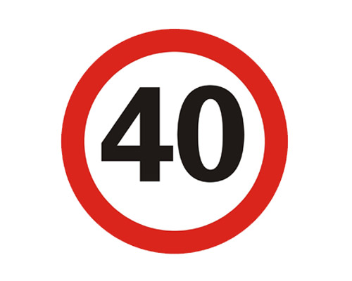 公路限速标志牌