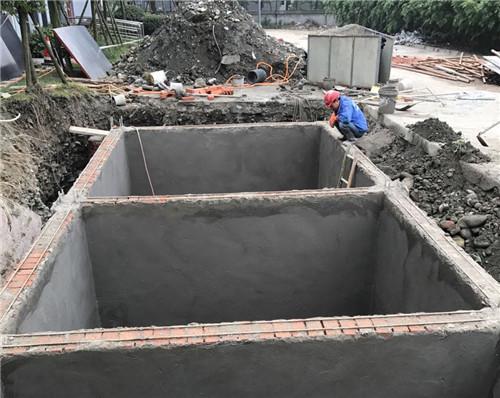 修建隔油池