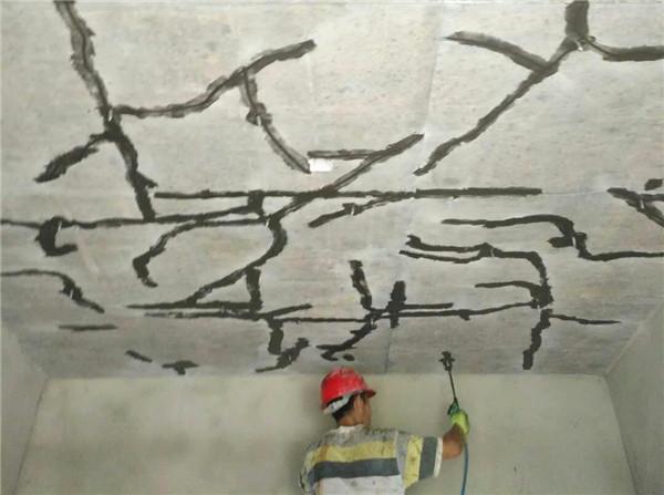 屋顶裂缝修补