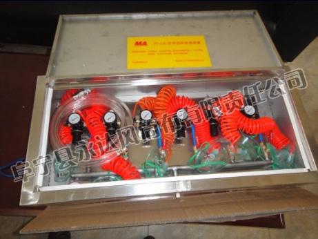 箱体压风自救装置
