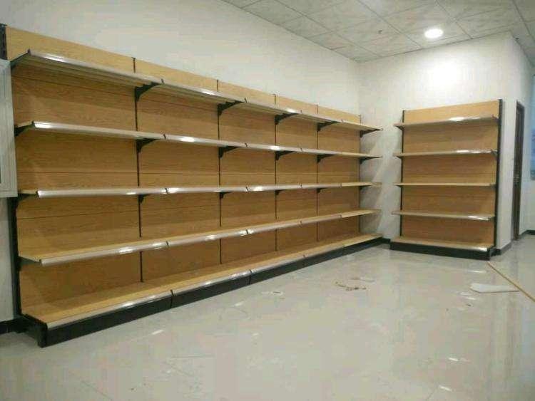 钢木式超市货架