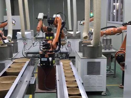 机器人在线作业生产实例