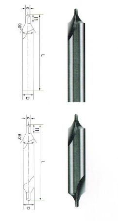 整体硬质合金A型中心钻60° 90°