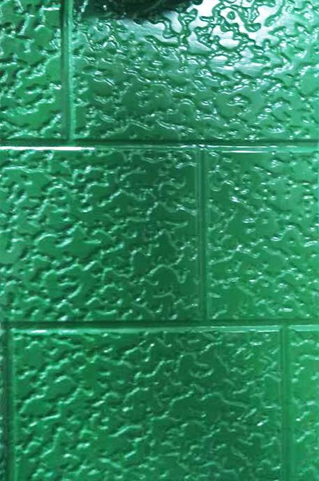 绿色粗砖纹单色保温雕花板