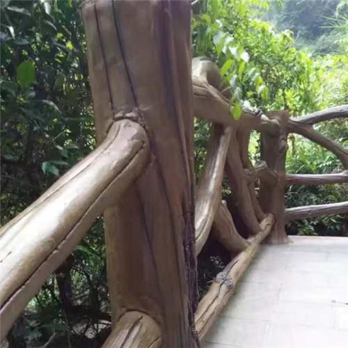 成都水泥仿木栏杆