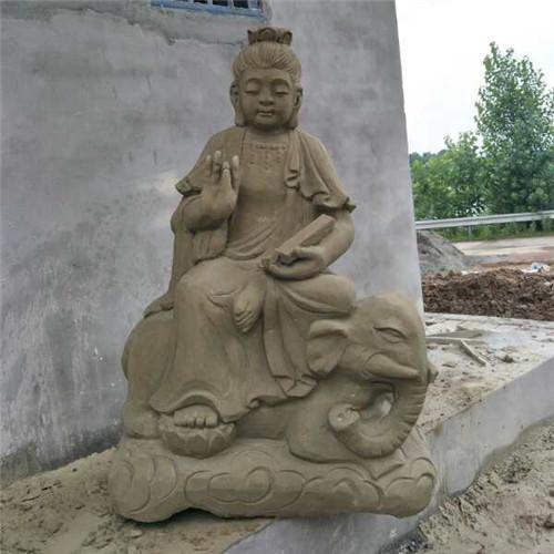 青石人物雕像