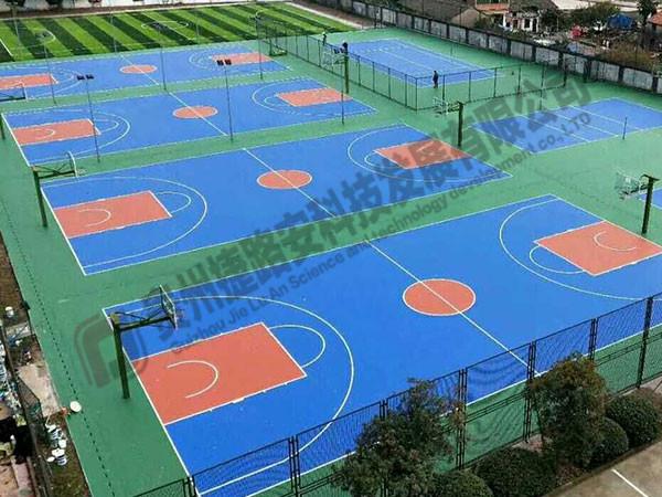 遵义篮球场建设