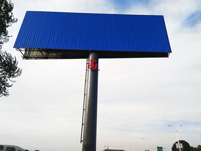 河北承德丰宁单立柱广告塔安装