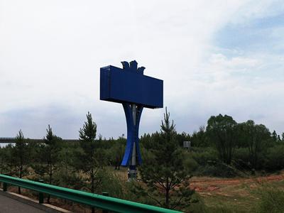 内蒙古鄂尔多斯高速广告塔安装