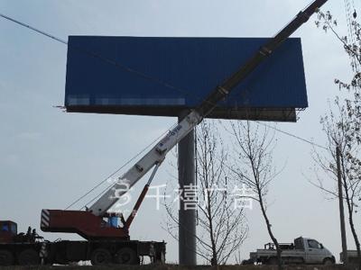 邢台单立柱广告塔制作