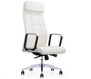 白色皮椅总裁总经理椅子会议椅-BH213CH