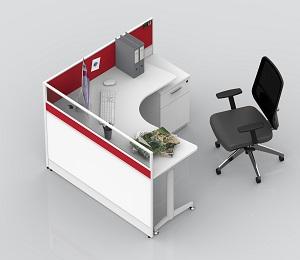 屏风卡位员工办公桌-BH041LX20