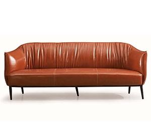 棕色休闲皮沙发-BH010JT