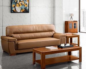 棕色真皮沙发-BH116SYT