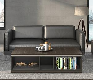 黑色商务真皮沙发-BH011PS