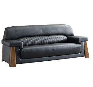 真皮黑色沙发-BH8842D