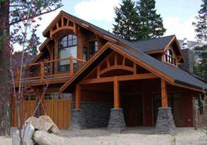 梁柱结构木屋