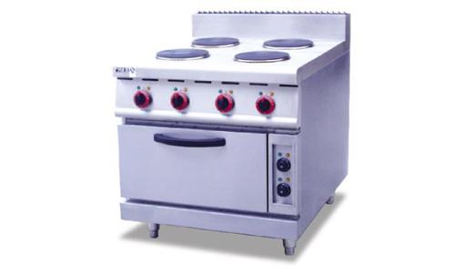 立式电热四头煮食炉连