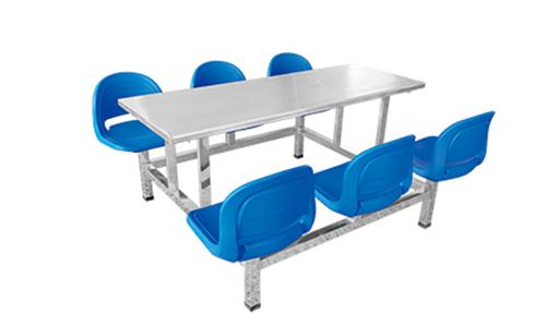六人不锈钢面餐桌
