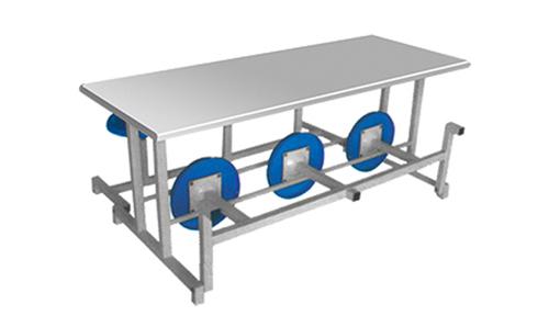新疆六人折叠椅快餐桌