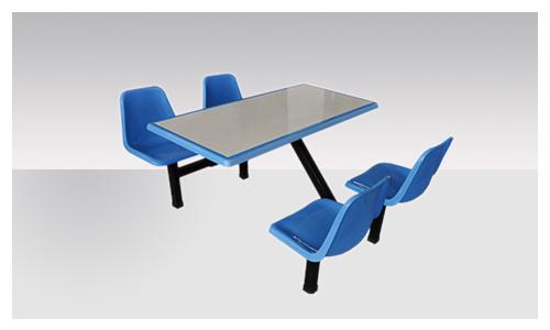 新疆四人玻璃钢快餐桌