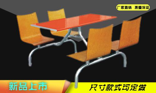 新疆四人木面椅快餐桌