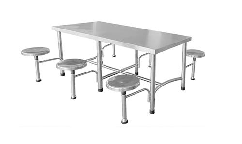 六人不锈钢豪华餐桌