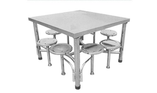 新疆八人不锈钢豪华餐桌