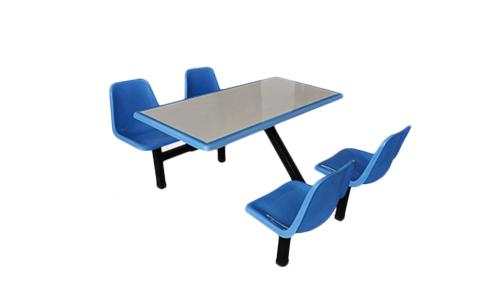 四人玻璃钢快餐桌