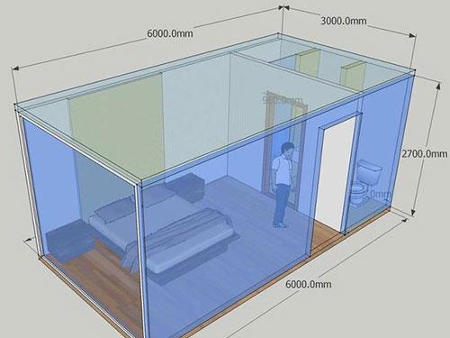 标准箱房带卫生间