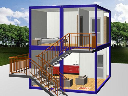 个性化设计双层集装箱房