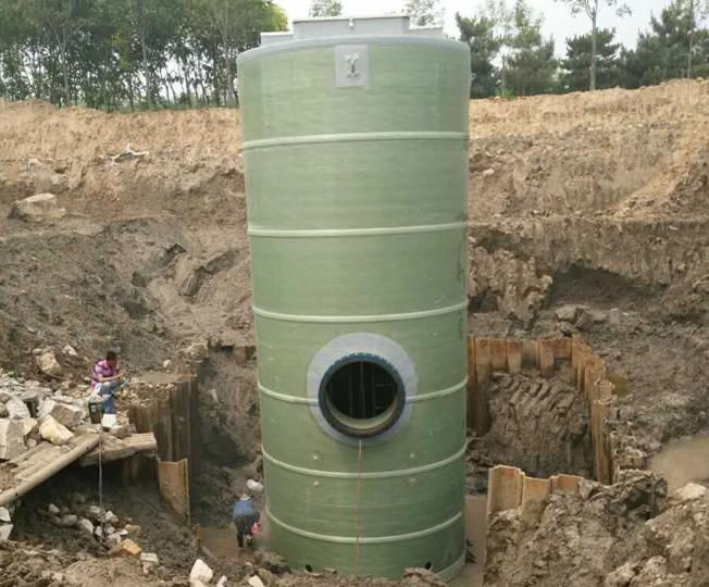 玻璃钢一体化雨水提升泵站