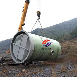 �A制一�w式污水泵站