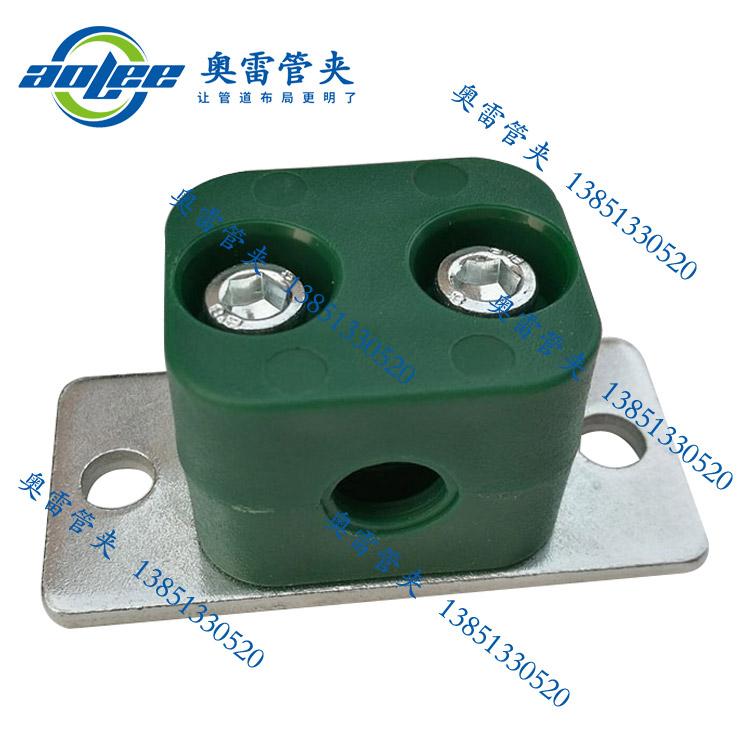 双联轻型塑料管夹