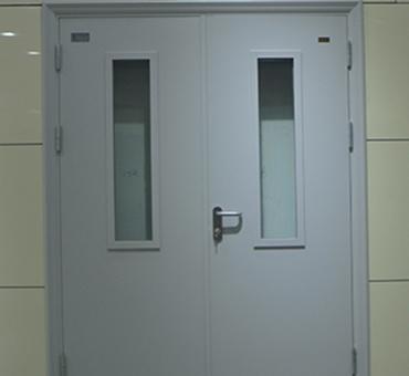 钢质对开门