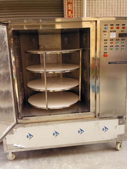 微波柜式盒饭加热设备产于山东微波杀菌机